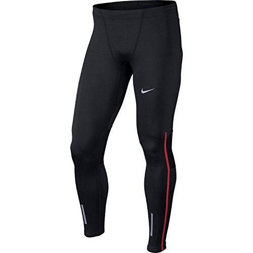 Nike Tech Collant da Corsa, Nero/University Red, S