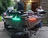 LED Boat Bow Lights Red / Green Navigation Running Light