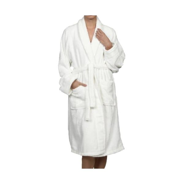 Dealtz Luxurious Egyptian Cotton Unisex Terry Bath Robe - Medium White at Sears.com