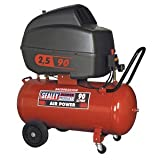 Sealey SAC89025VLN Compressor V-Twin Direct Drive Low Noise 2.5 hp, 90 Liter
