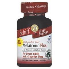 Schiff Melatonin Plus 180 Tablets by SCHIFF - Schiff Melatonin Plus