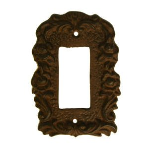 Cast Iron Single Rocker Switch Cover GFI Brown (Floral Wall Switch Covers compare prices)