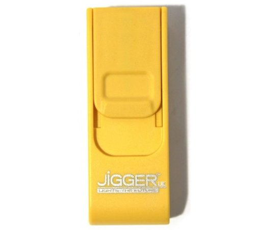 Original Branded Jigger UK Windproof Long Lasting Environment Friendly USB Cigarette Lighter - Yellow