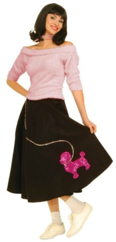 Sock Hop Top Pink Adult Womens Costume