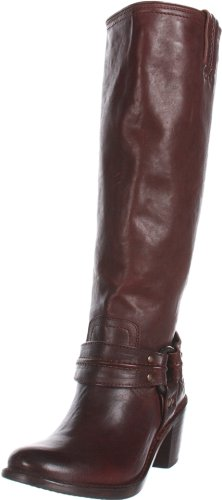 FRYE Women's Carmen Harness Tall Boot,Dark Brown Vintage Veg Tan,8.5 M US (Frye Carmen Harness Tall compare prices)