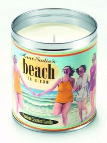 Aunt Sadie's Beach In A Can Candle (Suntan Lotion Scent)