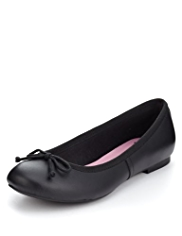Scuff Resistant Leather Ballet Pumps
