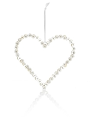 Large Mother of Pearl Hanging Heart