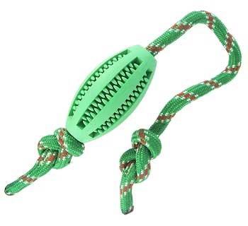 Nylabone Rhino Rope Football Dog Toy
