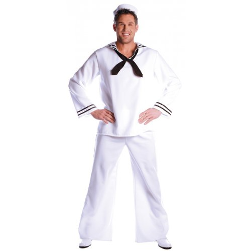 Sailor Costume - One Size - Chest Size 42-46 front-1032594