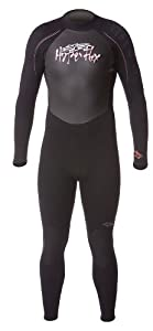 Hyperflex Wetsuits Men's Cyclone 4/3mm Full Suit,Black/Red,X-Small