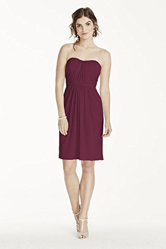 short-strapless-mesh-bridesmaid-dress-with-pleated-bodice-style-f17010-wine-2