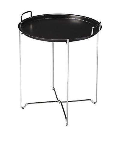 Butler Tray Table, Black/Chrome