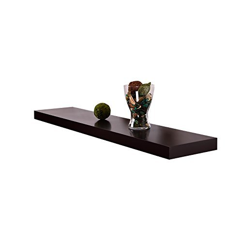 WELLAND Chicago Floating Wall Shelves, 48-inch, Espresso