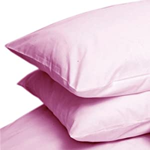 Linens Limited Polycotton Percale 180 Thread Count Housewife Pillow Cases, Lilac, Pair