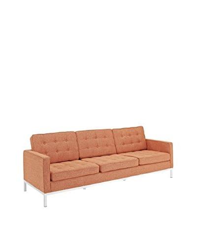 Modway Loft Sofa, Orange Tweed Wool, 30.5Lx90.5Wx32H