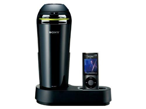 SONY iPod/iPhone用ドックスピーカー 車載用シガー電源対応 ブラック SRS-V500IP/B