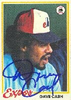 Dave Cash Montreal Expos 1978 Topps Autographed Hand Signed Trading Card. by Hall+of+Fame+Memorabilia