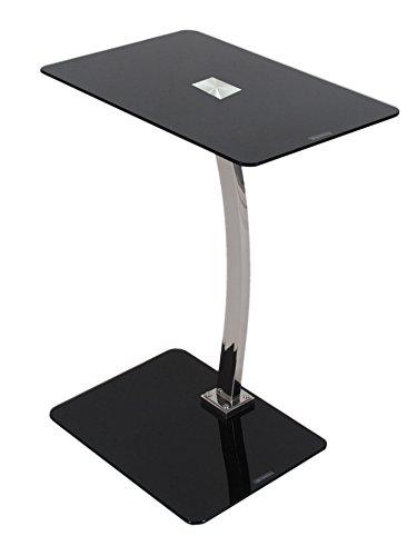 Glastisch-Beistelltisch-schwarz-Laptoptisch-Notebooktisch-6-mm-ESG-Sicherheitsglas