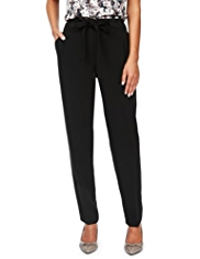 M&S Collection Modern Slim Leg Pleated Trousers with Belt