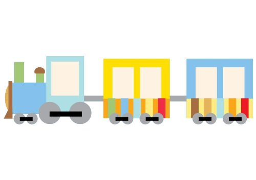 Train Wall Decals Cute Cartoon Train 5 - 12 Inches X 8 Inches - Peel And Stick Removable Graphic front-649010