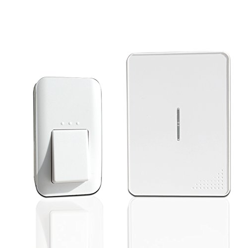 Wireless Doorbell-No Batteries Requried IPX7 Waterproof and Flameresistant Doorbells for Both Plugin Receiver and 1 Kinetic Transmitter-Operating Range 100m with 38 Melodies (Nutone Doorbell Button Bulb compare prices)