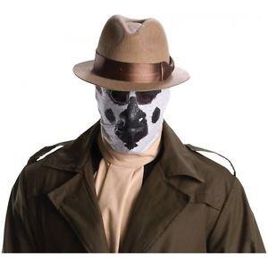 [Rorschach Stocking Mask The Watchmen Adult Men Superhero Halloween Costume Acsry] (Rorschach Costume Halloween)