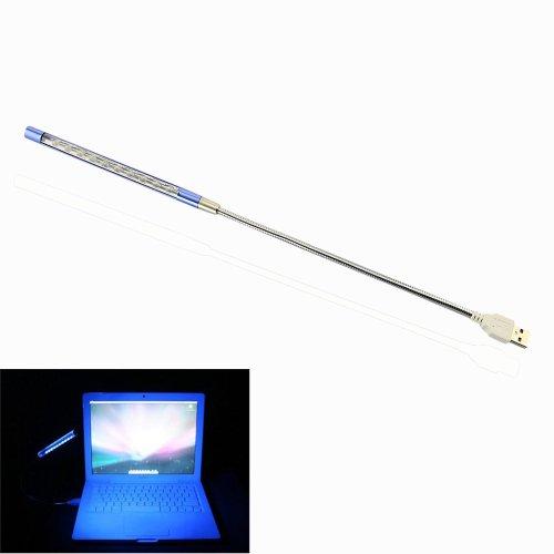 Gadget Zone(Us Seller) Flexible Usb 10 Led Light Lamp For Keyboard Reading Notebook Laptop Pc (Sky Blue)