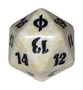 MTG Spindown D20 Life Counter - New Phyrexia White