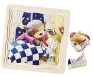 Goki Schichtenpuzzle Kleiner Bär