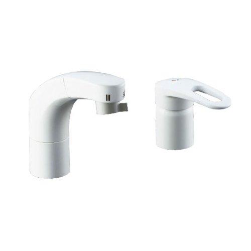 LIXIL(リクシル) INAX 洗面器用 ホース引出式シングルレバー混合水栓 エコハンドル 抗菌ハンドル RLF-681Y