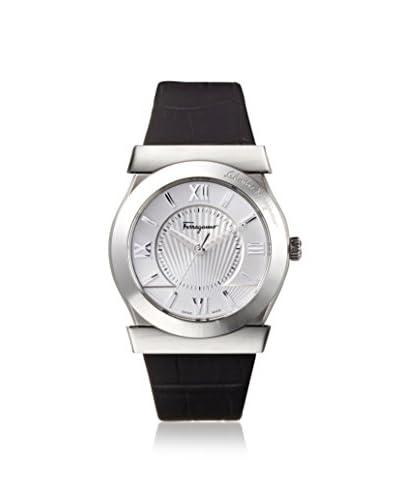 Salvatore Ferragamo Men's FI0980014 Vega Black/Silver Leather Watch