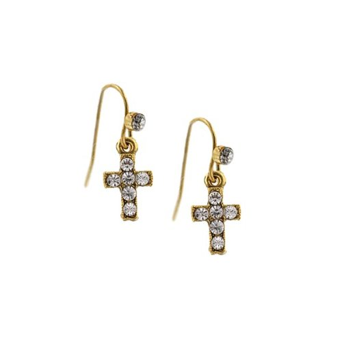 The Vatican Library Collection® Delicate Inspirations Mini Cross Earrings
