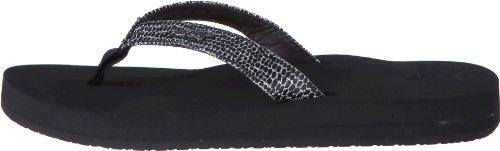Reef Women's Star Cushion Sassy Flip Flop,Black/Silver,9 M US