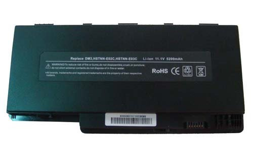 High Performance 5200mah 6 Cell 11.1V Black Laptop Battery for HP Compatible Models