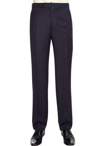 Austin Reed Contemporary Fit Navy Pinstripe Trousers REGULAR MENS 38