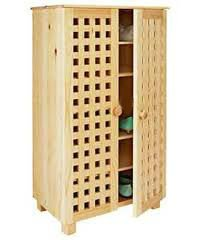 Shoe Storage Cabinet Solid Pine Shoe Tidy Wooden