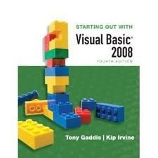 Video Notes on Disk for Starting Out With Visual Basic 2008 Update