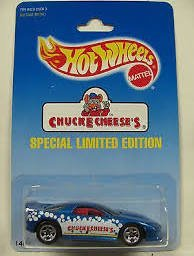 Chuck E Cheese 1995 Hot Wheels Carded Die Cast Special Limited Edition - 1