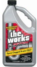 A & M Cleaning 33320WK The Works Drain Opener - 32 oz Pack Of 12