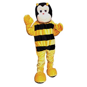 Bumble Bee Mascot (Grey) Adult Costume Size One-size