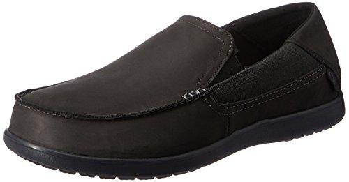 Crocs Santa Cruz 2 Luxe Leather M, Sneaker a Collo Basso Uomo, Nero, 42/43 EU