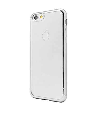 UNOTEC Custodia TPU Gel iPhone 7 Color Frame Grigio