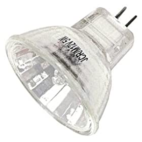 Hikari 00195 - JCR-8295 MR11/12V/5W/G4/30Deg MR11 Halogen Light Bulb