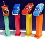 PEZ-Disney Cars, 6 Random Assortment of Pez Dispensers With 2 Rolls of Refills Each