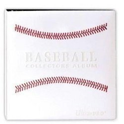 White Stitched Baseball Card Collectors Album By Ultra Pro