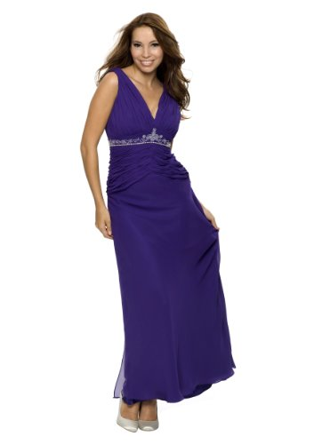 Evening dress, cocktail dress, for mother of the bride, color blue violet, size 20 astrapahl