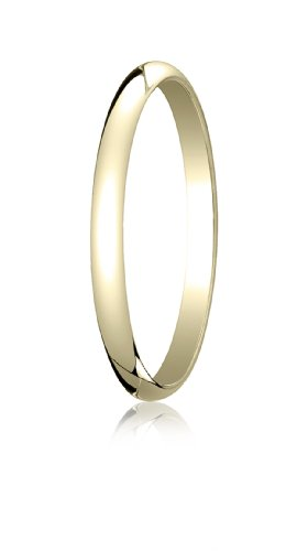 18K Yellow Gold, 2.0mm Traditional Dome Oval Ring (sz 7.5)