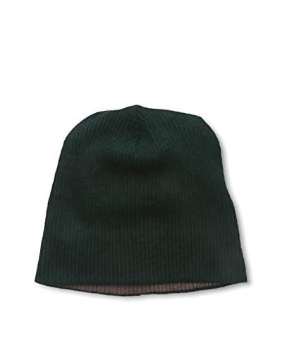 Portolano Men's Merino 2-Tone Solid Knit Hat, Sable Brown