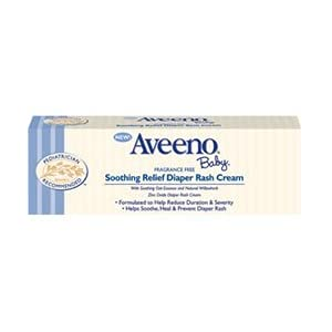 Aveeno Baby Diaper Rash Cream, Fragrance Free, 3.7-Ounce Tube